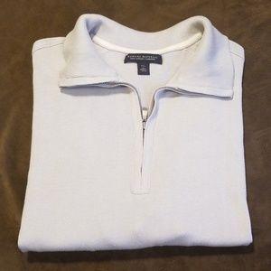 Banana Republic Silk Cotton Cashmere Zip Sweater